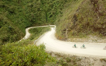 Cycling down death road Bolivia