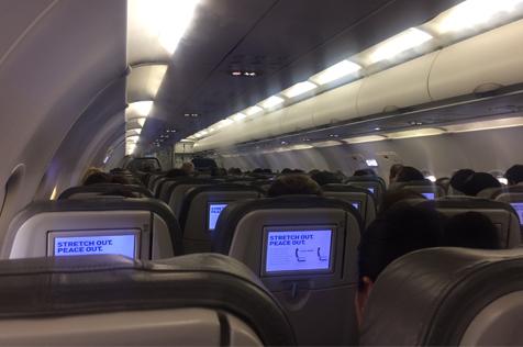 Jet Blue plane interior